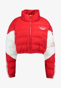 adidas Originals - CROPPED PUFFER - Winter jacket - scarlet/white - 4
