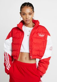 adidas Originals - CROPPED PUFFER - Winter jacket - scarlet/white - 0