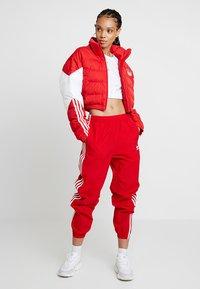 adidas Originals - CROPPED PUFFER - Winter jacket - scarlet/white - 1