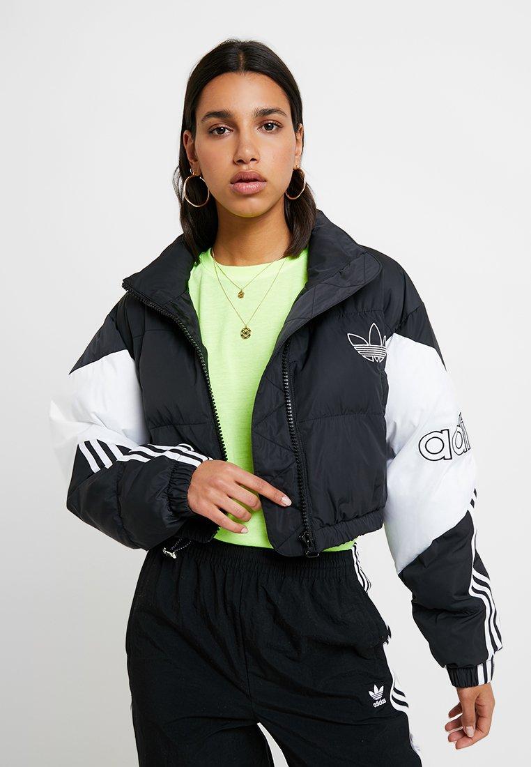 adidas Originals - CROPPED PUFFER - Vinterjakker - black/white