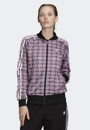 TREFOIL ALLOVER PRINT TRACK TOP - Bomberjacks - purple