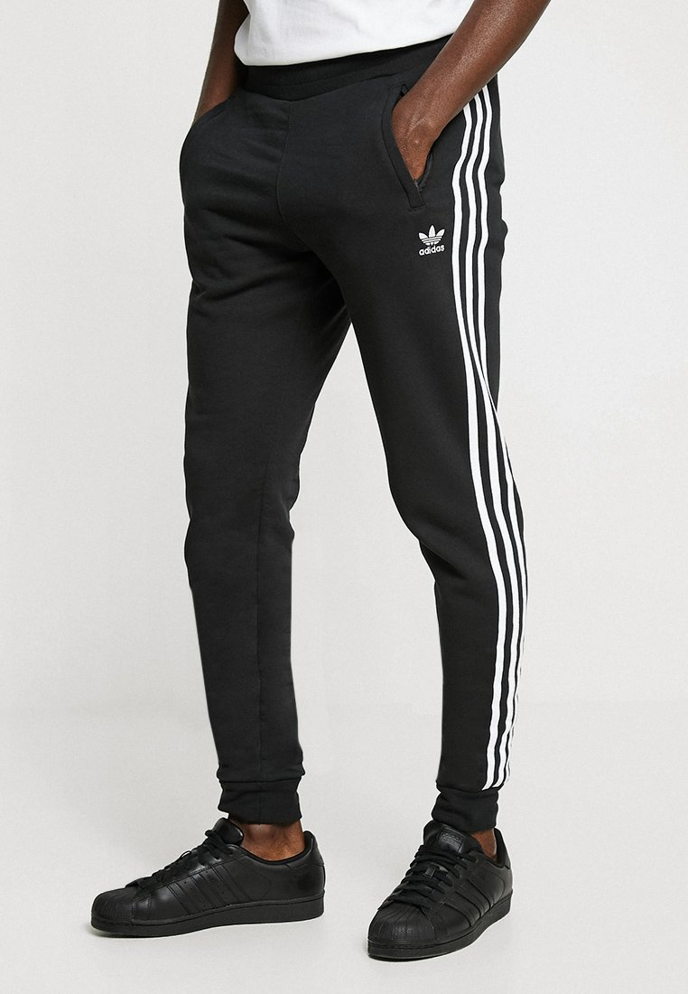adidas Originals - STRIPES PANT - Verryttelyhousut - black