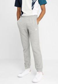 adidas Originals - ADICOLOR REGULAR TRACK PANTS - Træningsbukser - mottled grey - 0