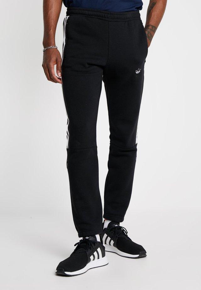 OUTLINE REGULAR TRACK PANTS - Pantalon de survêtement - black