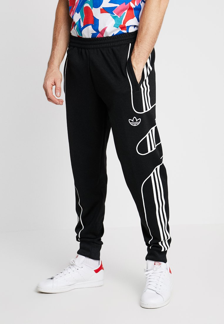 adidas Originals - OUTLINE STRIKE REGULAR TRACK PANTS - Spodnie treningowe - black