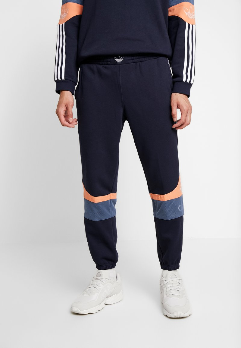 adidas Originals - Pantalon de survêtement - legend ink/easy orange