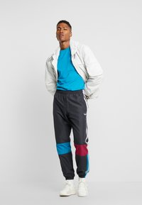 adidas Originals - TRACK PANT - Tracksuit bottoms - carbon/active teal/berry - 1