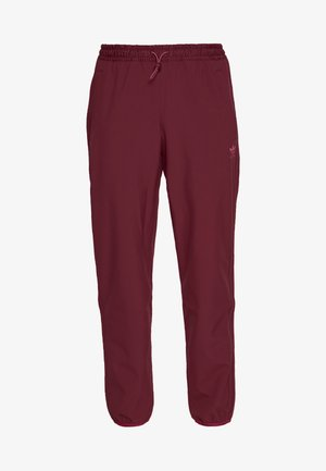 WINTERIZED TRACK PANT - Pantalon de survêtement - coll burgundy/bold pink