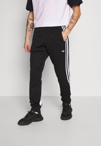 adidas Originals - 3STRIPES WRAP TRACK PANTS - Trainingsbroek - black/white - 0