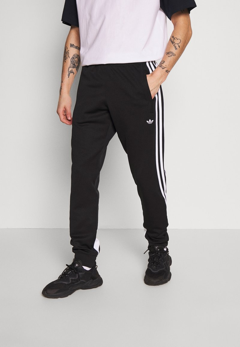 adidas Originals - 3STRIPES WRAP TRACK PANTS - Trainingsbroek - black/white