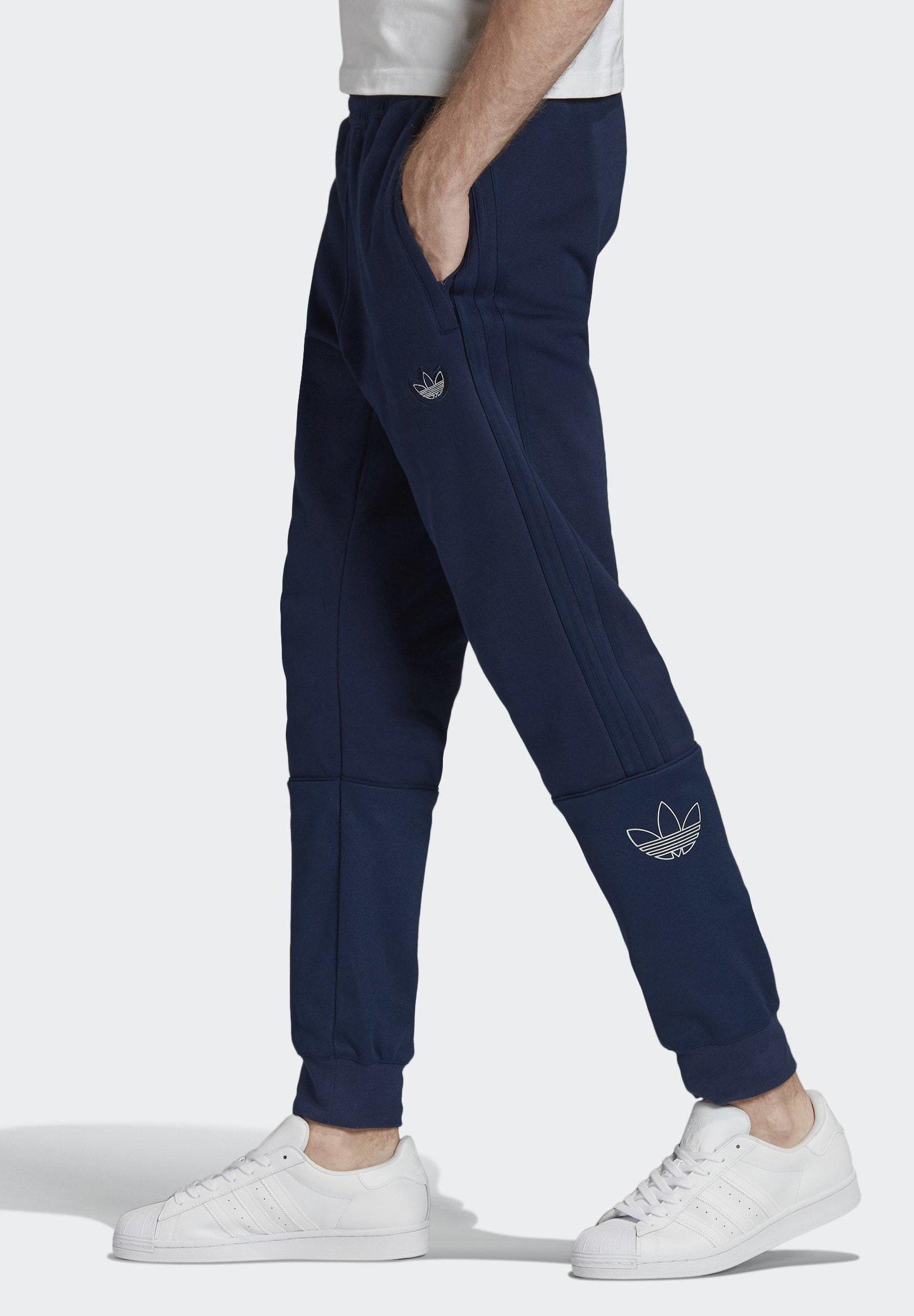 Adidas Originals Silver Foil Outline Joggers - Träningsbyxor Blue