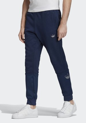 SILVER FOIL OUTLINE JOGGERS - Trainingsbroek - blue