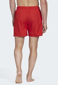 adidas Originals - 3-STRIPES SWIM SHORTS - Shorts - red - 1