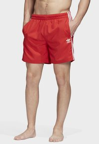 adidas Originals - 3-STRIPES SWIM SHORTS - Shorts - red - 0