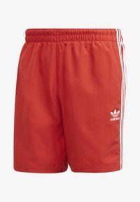 adidas Originals - 3-STRIPES SWIM SHORTS - Shorts - red - 7