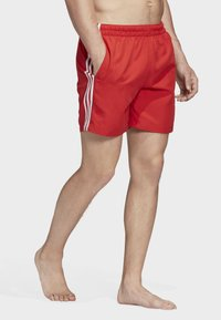 adidas Originals - 3-STRIPES SWIM SHORTS - Shorts - red - 2