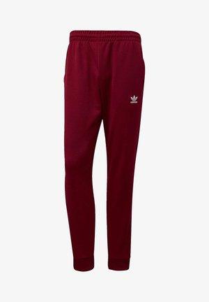 TREFOIL ESSENTIALS TRACKSUIT BOTTOM - Pantalon de survêtement - burgundy