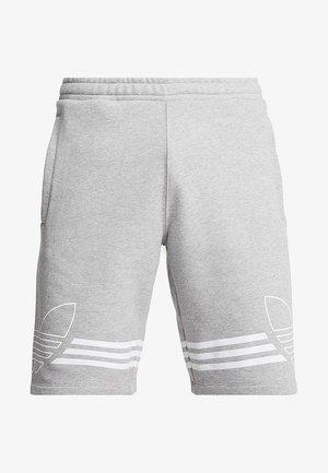 OUTLINE TREFOIL REGULAR SHORTS - Pantalon de survêtement - medium grey heather