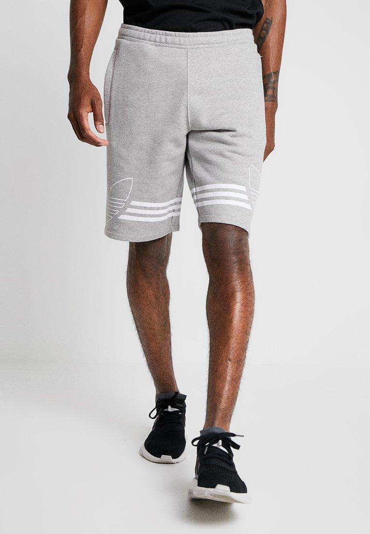 adidas Originals - OUTLINE TREFOIL REGULAR SHORTS - Pantalones deportivos - medium grey heather
