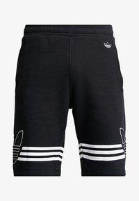 adidas Originals - OUTLINE TREFOIL REGULAR SHORTS - Tracksuit bottoms - black - 4