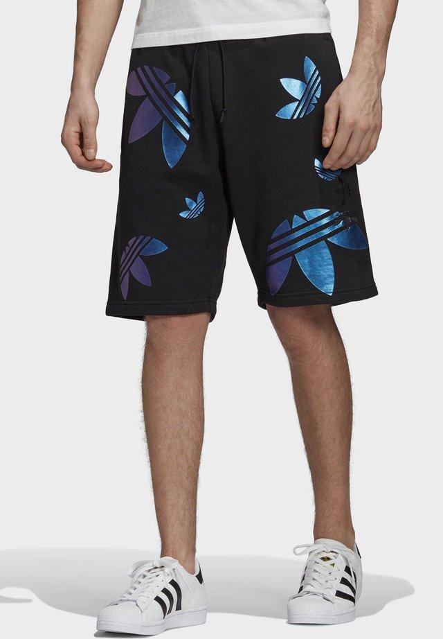 ZENO BIG TREFOIL SHORTS - Shorts - black