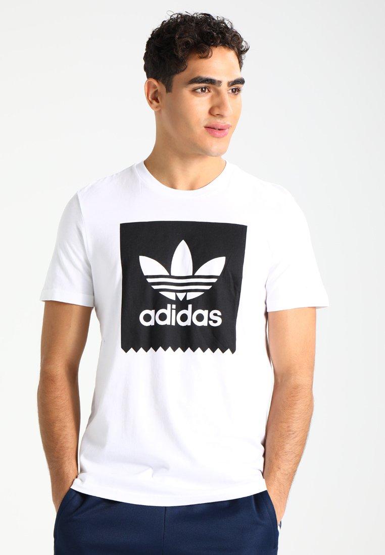 adidas Originals - SOLID - T-shirt z nadrukiem - white/black