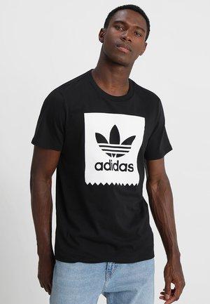 SOLID - Print T-shirt - black/white