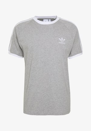 ADICOLOR 3STRIPES SHORT SLEEVE TEE - Triko s potiskem - grey
