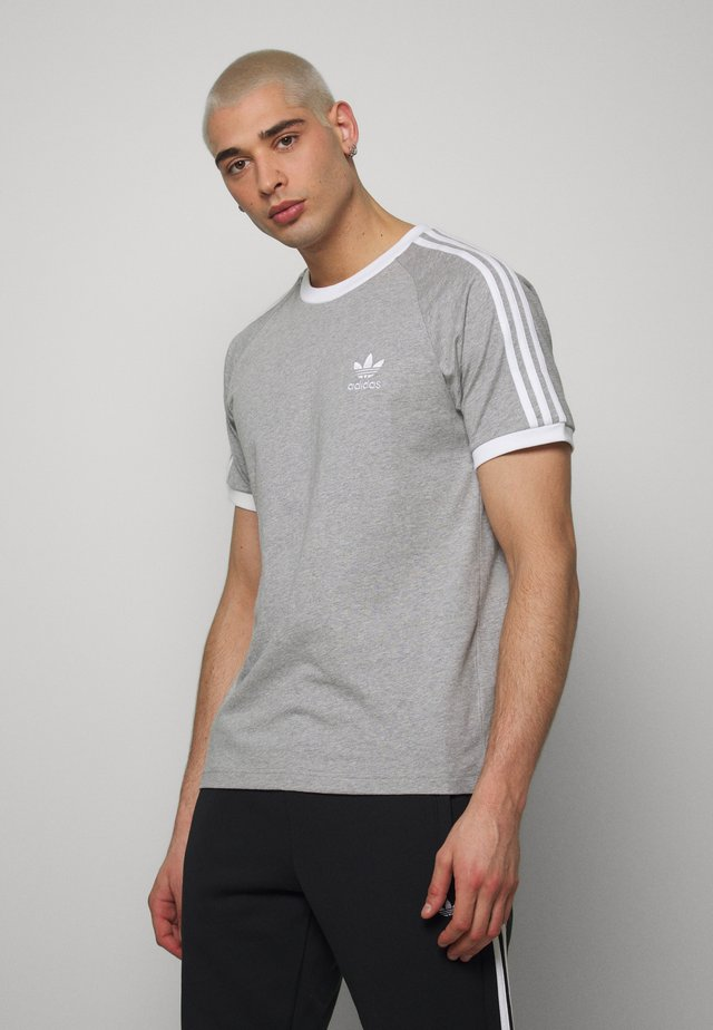 3 STRIPES TEE UNISEX - T-shirt con stampa - grey
