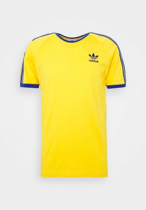 ADICOLOR 3STRIPES SHORT SLEEVE TEE - T-shirt z nadrukiem - actgol/royblu