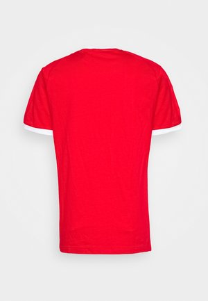 ADICOLOR 3STRIPES SHORT SLEEVE TEE - T-shirt print - scarle