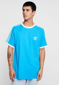 adidas Originals - ADICOLOR 3STRIPES SHORT SLEEVE TEE - T-shirt imprimé - light blue - 0