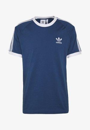 STRIPES TEE - Print T-shirt - dark blue
