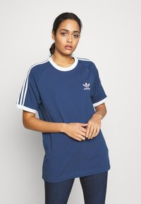 adidas Originals - ADICOLOR 3STRIPES SHORT SLEEVE TEE - Print T-shirt - dark blue - 5