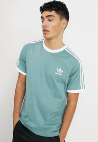 adidas Originals - ADICOLOR 3STRIPES SHORT SLEEVE TEE - T-shirt imprimé - mint - 0