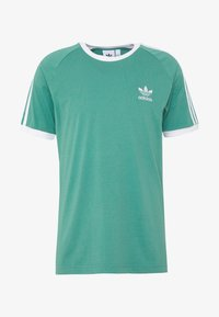adidas Originals - ADICOLOR 3STRIPES SHORT SLEEVE TEE - Print T-shirt - green - 4