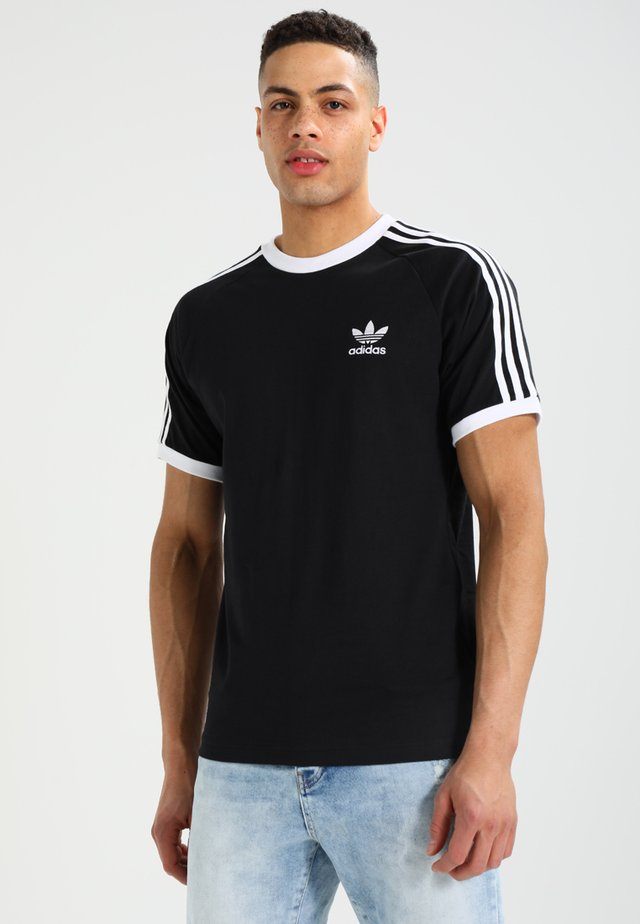 ADICOLOR 3STRIPES SHORT SLEEVE TEE - T-shirt imprimé - black