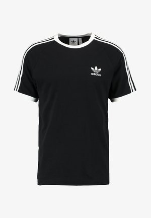 ADICOLOR 3STRIPES SHORT SLEEVE TEE - T-shirt z nadrukiem - black