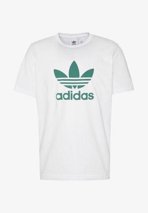 ADICOLOR TREFOIL TEE - Print T-shirt - white/mint
