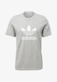 adidas Originals - ADICOLOR TREFOIL TEE - Printtipaita - medium grey heather - 0