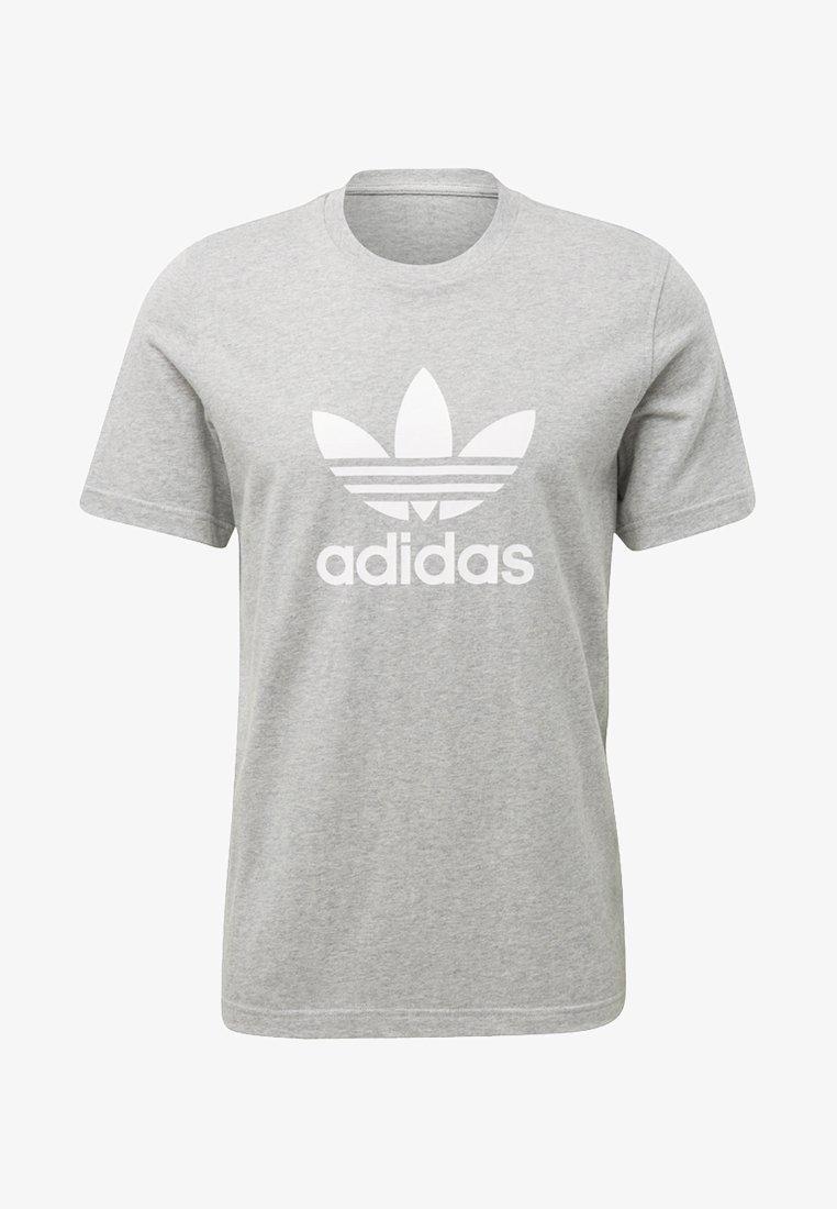 adidas Originals - TREFOIL - Print T-shirt - medium grey heather
