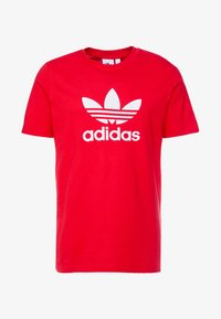adidas Originals - ADICOLOR TREFOIL TEE - T-shirt print - red/white