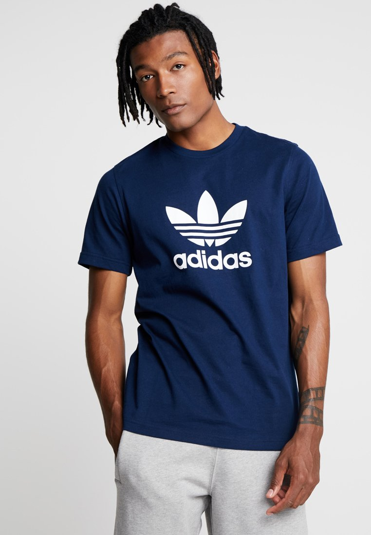 adidas Originals - ADICOLOR TREFOIL TEE - T-shirts print - collegiate navy