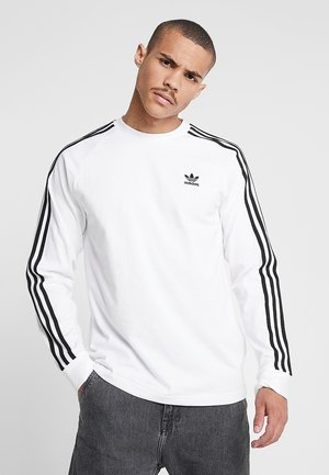 3-STRIPES - T-shirt à manches longues - white