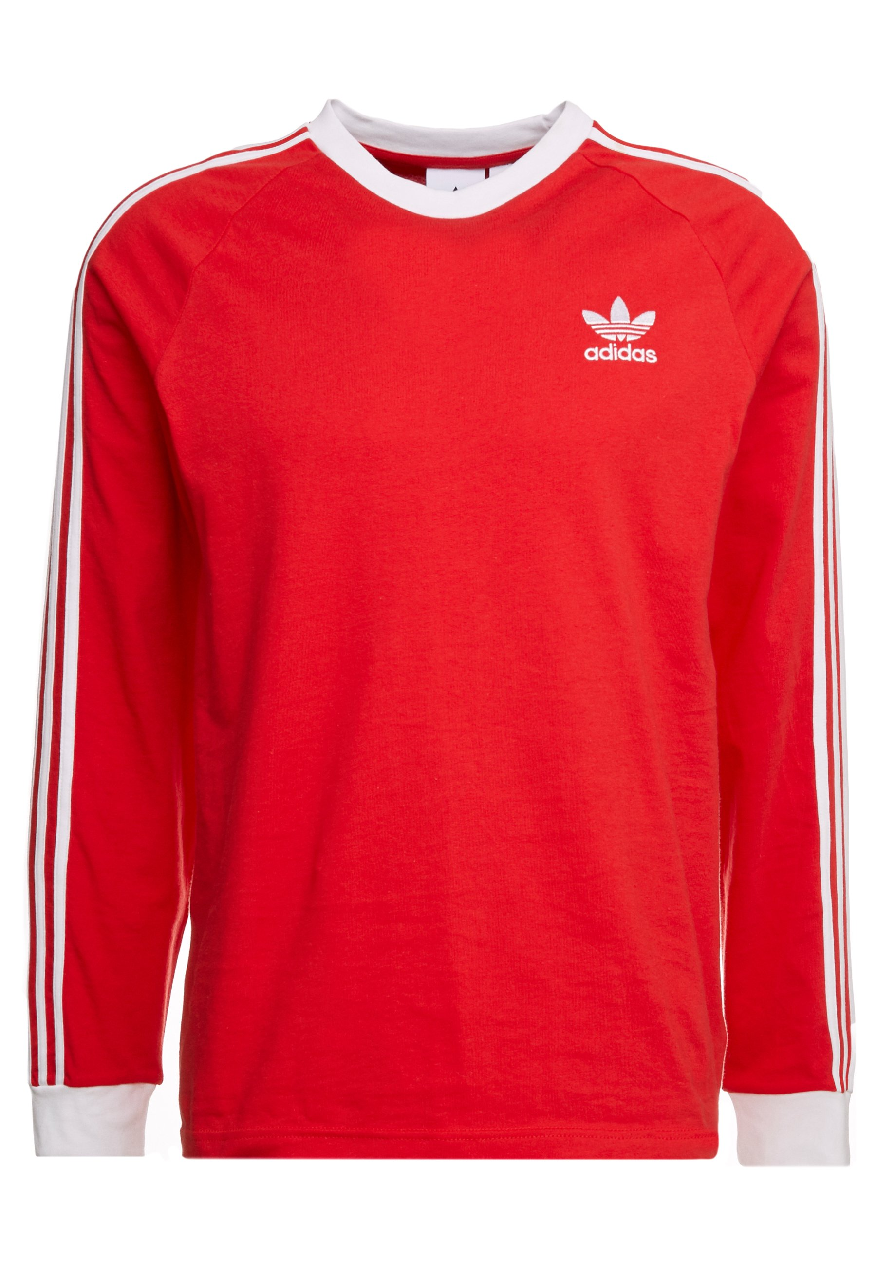 Adidas Originals 3-stripes - Long Sleeved Top Lush Red