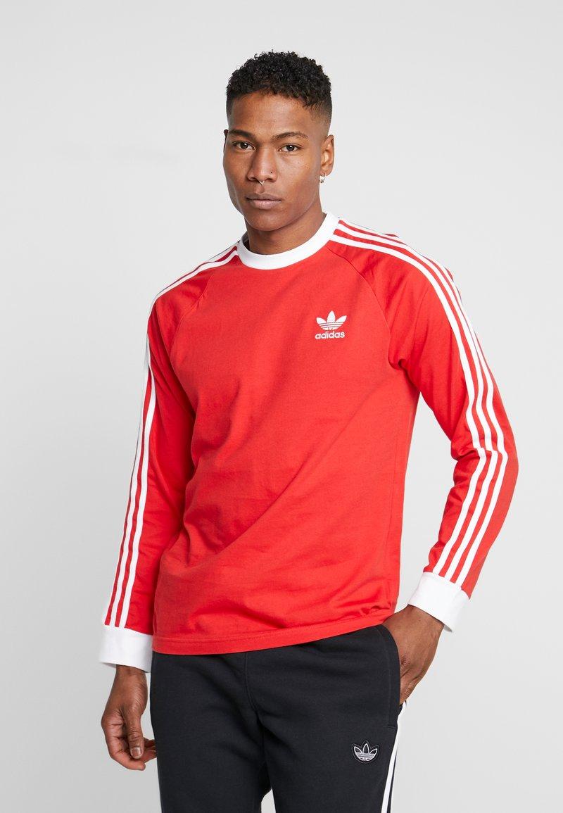 adidas Originals - 3-STRIPES - T-shirt à manches longues - lush red