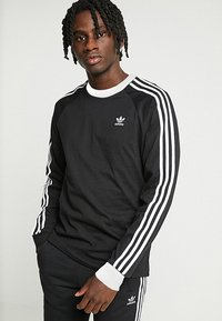 adidas Originals - 3-STRIPES - Topper langermet - black - 0
