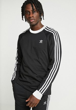 3-STRIPES - T-shirt à manches longues - black