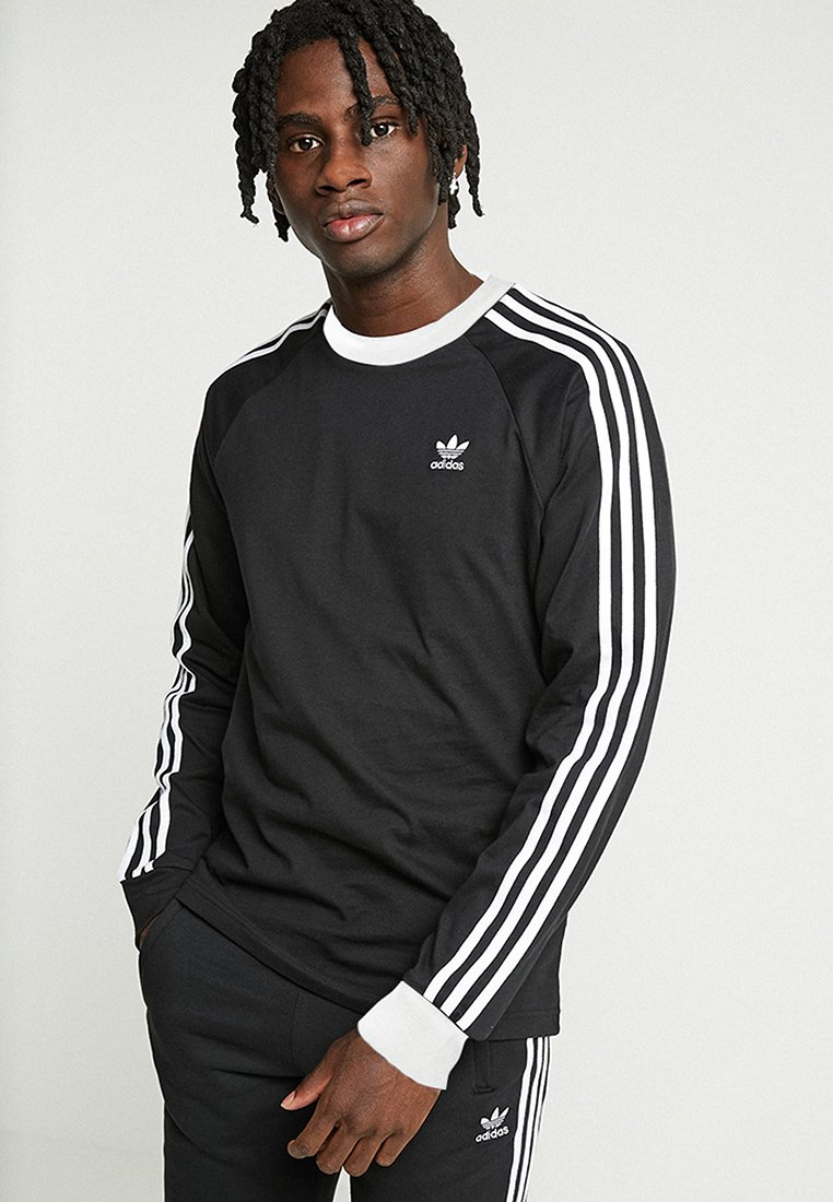 adidas Originals - 3-STRIPES - Topper langermet - black