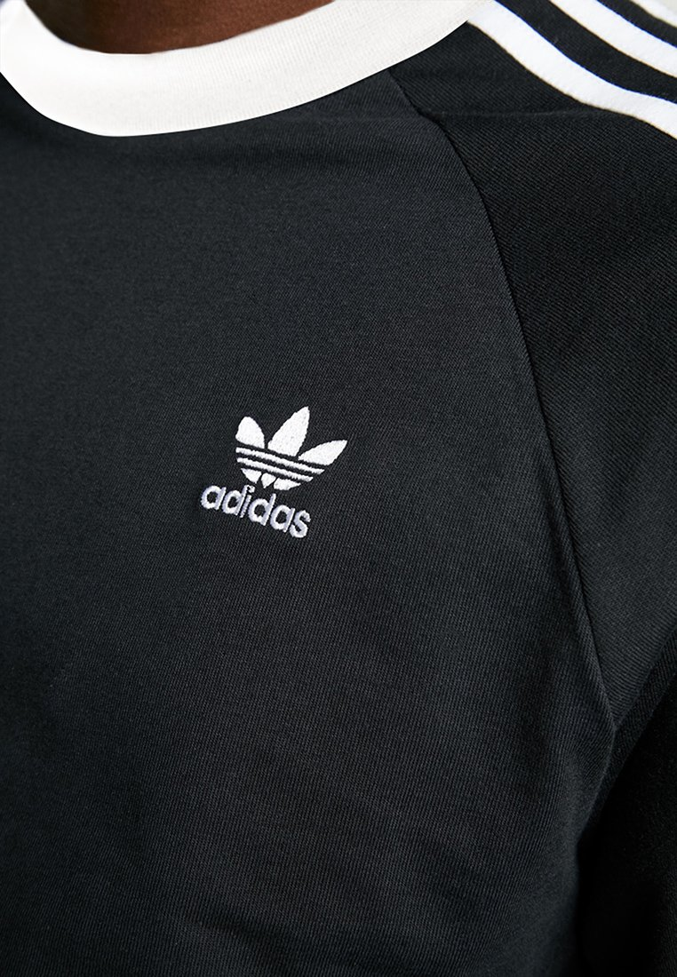 adidas Originals 3-STRIPES - Topper langermet - black
